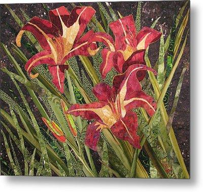 Joan's Daylilies Metal Print