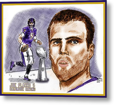 Joe Flacco Metal Print by Chris  DelVecchio