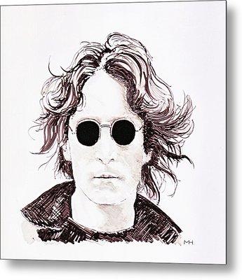 John Lennon Metal Print by Martin Howard