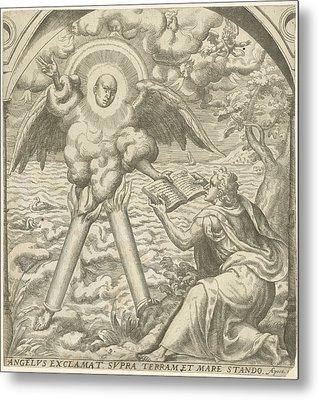 John Receives The Sacred Writings Of An Angel Metal Print