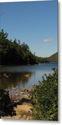 Metal Print featuring the photograph Jordan Pond Bar Harbor Maine by Jennifer Wheatley Wolf