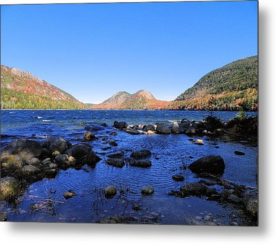 Metal Print featuring the photograph Jordon Pond 2 by Gene Cyr