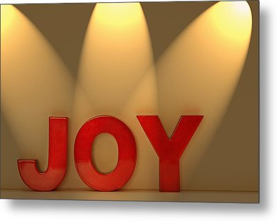 Joy Metal Print by Leah Hammond