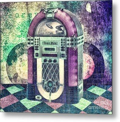 Juke Box Metal Print by Mo T