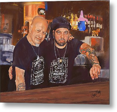 Julio And Miguel Metal Print by Margaret Merry