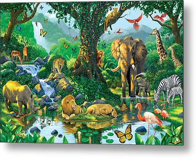 Jungle Harmony Metal Print