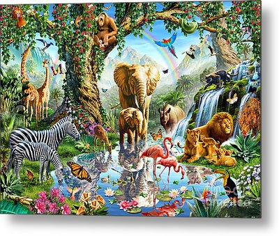 Jungle Lake Metal Print by Adrian Chesterman