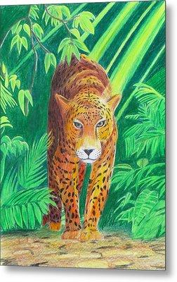 Jungle Leopard Metal Print