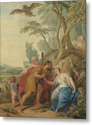 Jupiter, Disguised As A Shepherd, Seducing Mnemosyne Metal Print by Litz Collection