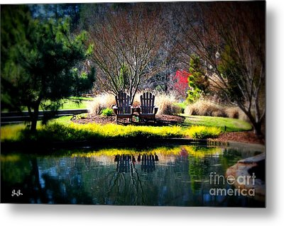Metal Print featuring the photograph Just The Two Of Us by Geri Glavis
