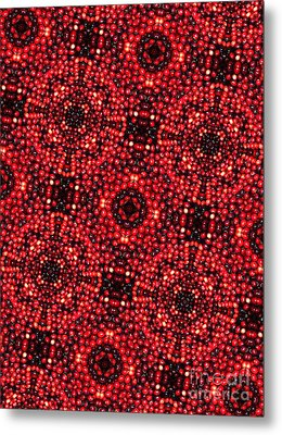 Kaleidoscope Cranberries Metal Print by Amy Cicconi