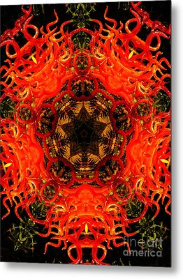 Kaleidoscope Of Blown Glass Metal Print by Amy Cicconi