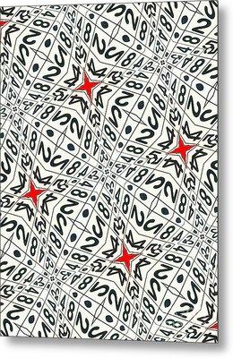 Kaleidoscope Random Numbers Metal Print by Amy Cicconi