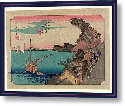 Kanagawa, Ando Between 1833 And 1836, Printed Later Metal Print