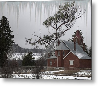 Metal Print featuring the photograph Kansas Church by Liane Wright