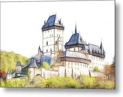 Karlstejn - Famous Gothic Castle Metal Print by Michal Boubin