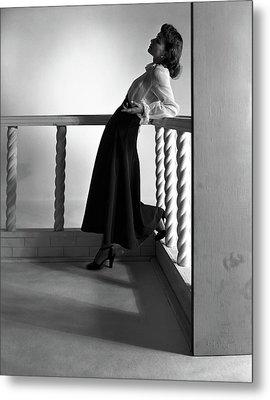 Katherine Bard Wearing A Long Skirt Metal Print