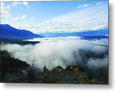 Katka Mountain Lookout Metal Print by Annie Pflueger