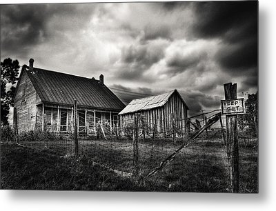 Keep Out Metal Print by Robert FERD Frank