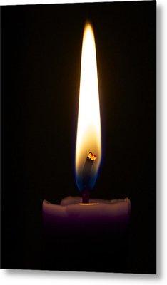 Keep The Flame Burning Bright Metal Print by Jennifer Lamanca Kaufman
