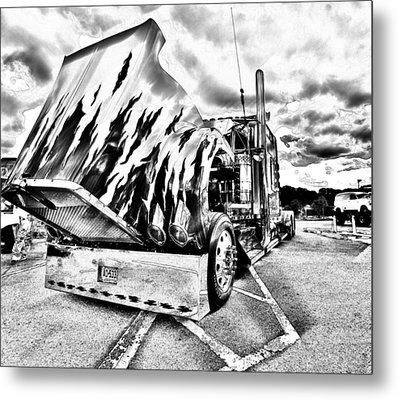 Kenworth Rig Metal Print