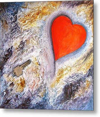 Key To My Heart Metal Print by Heather Matthews