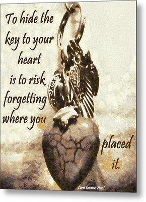 Key To Your Heart Metal Print by Lorri Crossno