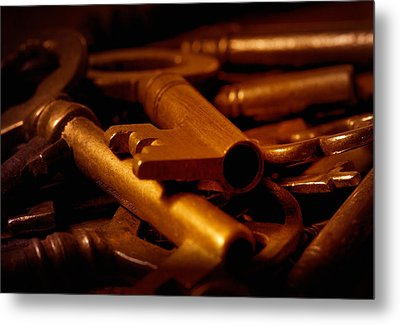 Metal Print featuring the photograph Keys by WB Johnston
