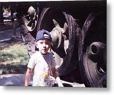 Kid And Tank. Metal Print by Vitaliy Shcherbak