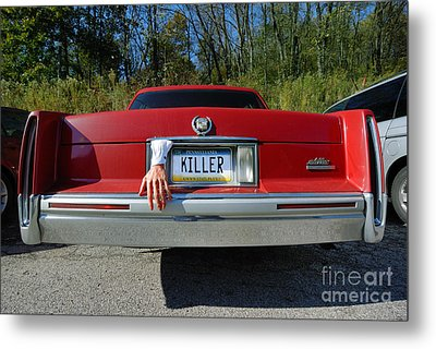 Killer License Plate Metal Print by Amy Cicconi
