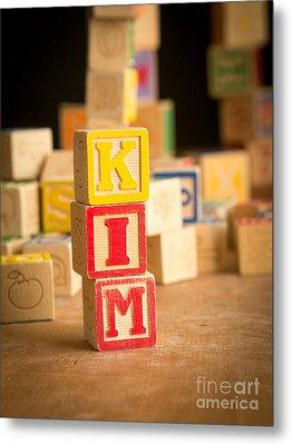 Kim - Alphabet Blocks Metal Print by Edward Fielding
