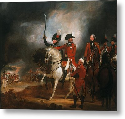King George IIi And The Prince Of Wales Metal Print by Sir William Beechey