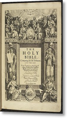 King James Bible Metal Print by British Library
