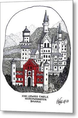 King Ludwigs Castle  Metal Print by Frederic Kohli
