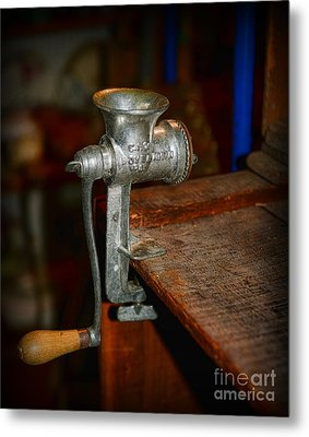 Kitchen - The Meat Grinder Metal Print by Paul Ward