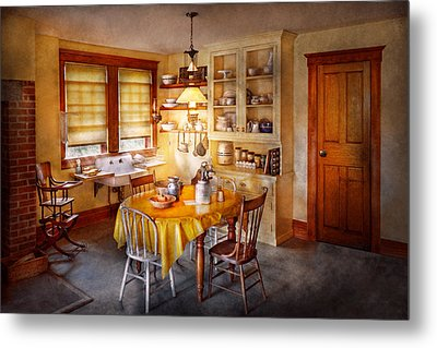 Kitchen - Typical Farm Kitchen  Metal Print by Mike Savad