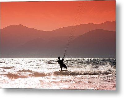Kite Surfing Metal Print by Gabriela Insuratelu