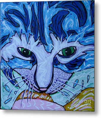 Kitty Metal Print by Susan Sorrell