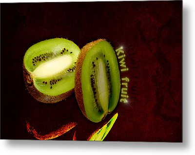 Kiwi Fruit Metal Print by Tommytechno Sweden