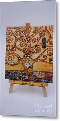 Metal Print featuring the painting Klimt Tree Of Life by Diana Bursztein