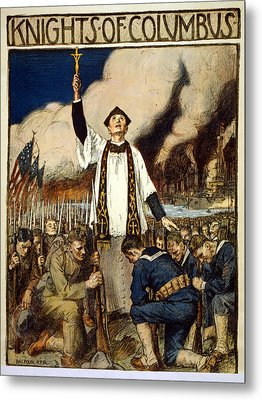 Knights Of Columbus, 1917 Metal Print by William Balfour Kerr