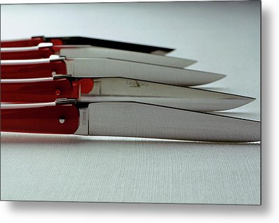 Knives Metal Print by Romulo Yanes