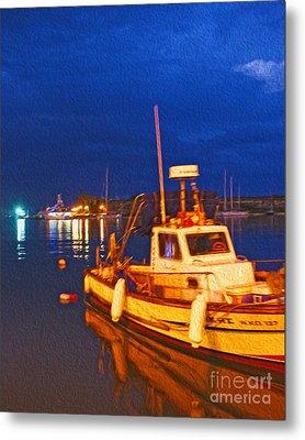 Kos Fisherman Boat Metal Print by Nur Roy