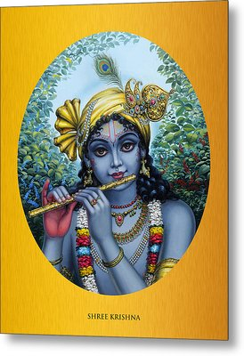 Krishna Metal Print by Vrindavan Das