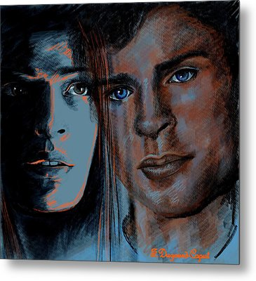 Kristin And Tom Metal Print by Francoise Dugourd-Caput