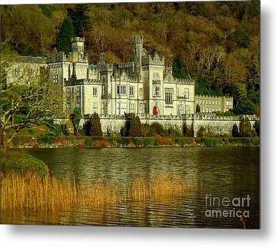 Kylemore Abbey On A Golden Afternoon Metal Print