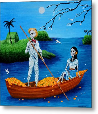 Metal Print featuring the painting La Barca by Evangelina Portillo