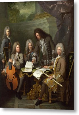 La Barre And Other Musicians Metal Print by Andre Bouys
