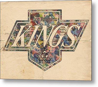 La Kings Vintage Art Metal Print