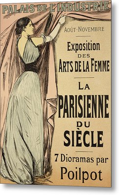 La Parisienne Du Siecle Metal Print by Jean Louis Forain